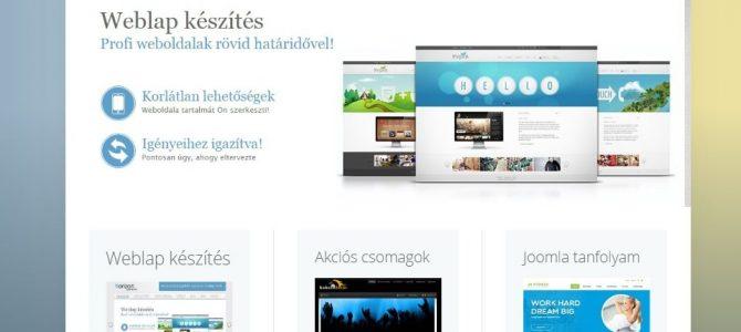 Weboldal készítés bemutatása